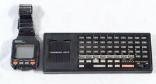 VINTAGE SEIKO DATA 2000 COMPUTER WATCH WITH KEYBOARD + INSTRUCTION MANUAL