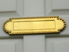 DOLLS HOUSE  -  GOLD COLOURED  LETTERBOX -  1.12 SCALE  NEW IN PACKET