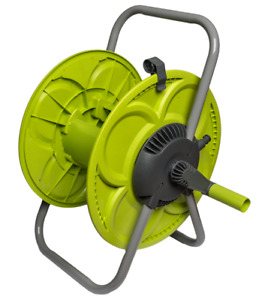 Large Capacity (50m) Floor Standing Lime Hose Reel/ Cart, UK FREE DELIVERY