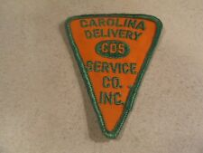 """Carolina Delivery Service Co. Inc. """"CDS"""" Driver Patch 4-1/8 X 3 Inch Pie Shaped"""