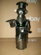 Handmade Metal Wine Bottle / Chef/Server / Fish Platter
