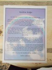 "Rainbow Bridge 8x10"" Glossy Ready for Framing Loss of a Pet Memorial Gift New"
