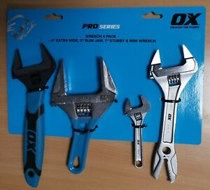 OX PRO SERIES 4 PIECE WRENCH SET