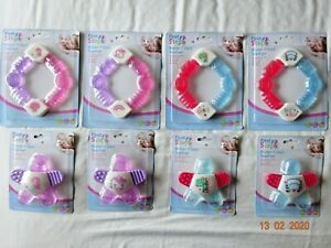 BABY BOYS GIRLS WATER FILLED TOY RING STAR TEETHER SOOTHER GUMS TEETHING 3+ M
