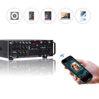 800W Amplifier Home Bluetooth Stereo 2CH EQ Karaoke USB AV Power Equalizer 110V