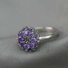 HOT Jewelry 18k White Gold Plated Adjustable Cubic Zirconia CZ Women Ring Gift