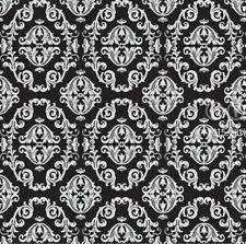 Black Damask Self Adhesive Vinyl Wallpaper Contact Paper