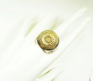 ANNA BECK $315 Sterling Silver 18K Yellow Gold Dot Collection Ring Sz 7