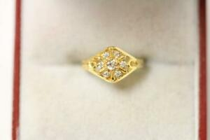 916/22ct sparkling attractive indian gold child's ring *Boxed*