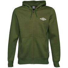 Umbro Mens Full Zip Fleece Hoody Khaki Green Size Medium