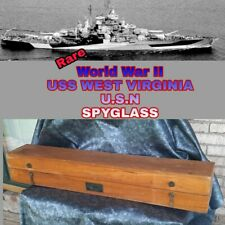 US Navy Spyglass Quartermaster Mark II 16 Power 1942 Hayward USS WEST VIRGINIA