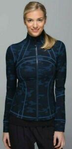 Lululemon Define Jacket Heathered Texture Lotus Camo Oil Slick Blue! Size 12