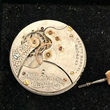 Waltham Pocket Watch Movement 6 Size Grade SPECIAL 12 Jewels Complete & Running