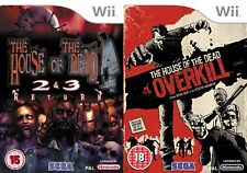 the house of the dead 2&3 return & overkill  PAL