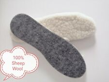 100% Wool Shoe Insole Sheep Wool Genuine Inner Sole Winter Warm Feet Cosy