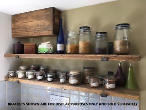 Reclaimed Old Rustic Wood Scaffold Board Shelves Industrial Shelf