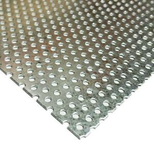 """Galvanized Steel Perforated Sheet 0.034"""" x 12"""" x 12"""", 3/32"""" Holes"""