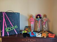 Mattel - Vintage 1987 - Barbie And The Rockers - 3 Dolls, Case, Accessories Lot