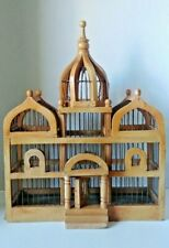 Antique Handmade Wood Wire Bird Cage Ornate Taj Mahal Style 19 1/2""