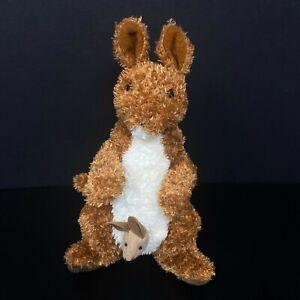 "Douglas Cuddle Toys Brown Kangaroo Mom w/Baby Joey 8"" Stuffed Animal FAST SHIP"