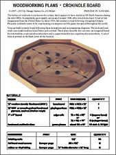 Woodworking Plans - build a Crokinole / Pichenotte game board. Diy plans (Eng.)