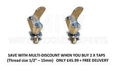 """Chrome 1/2"""" / 15mm Bubbler Tap for use with Drinking Fountain Multi Pack x 2"""