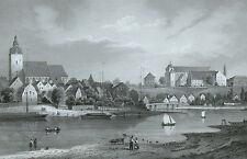 HAVELBERG - Kirchenansicht - Brandenburgisches Album - Stahlstich 1860