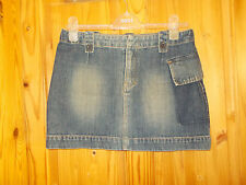 "BENCH mid blue denim faded short mini surfer beach holiday skirt 30"" 10-12 38-40"