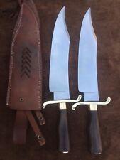 Lot Of 2 Custom Handmade 5160 Spring Steel Alamo Musso Bowie Knife True Replica