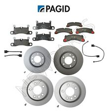 Porsche Cayenne Front & Rear Disc Brake Pad w/ Rotor & Sensor Pagid KIT
