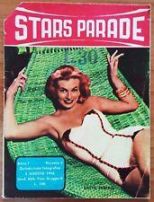 VINTAGE MAGAZINE 月刊 JOURNAL PIN UP STARS PARADE N 6 8/56 ANITA EKBERG SCHIAFFINO