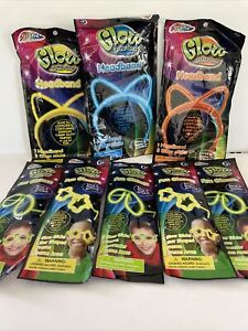 Grafix Glow In The Dark Headband & Glasses Asst Color Glow Sticks Halloween
