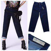 DIESEL NICLAH 084CG Women's Dark Blue Denim Jeans Size W 27 NEW RRP £140