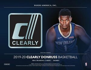 2019-20 CLEARLY DONRUSS BASKETBALL - **NEW FACTORY SEALED HOBBY BOX**