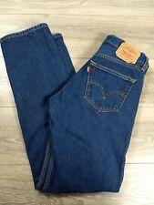 LEVI'S 501 Button Fly Straight Leg Men's Blue Jeans 32x36