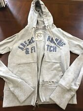 Womens Abecrombie And Fitch Gray Zip Up Sweatshirt Small