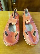 Coral Coloured Flat Comfy Shoes by Annabelle, Size 5