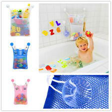 Child Bathroom Toy Storage Bag Organizer Net Kids Bathroom Suction Baskets Mesh