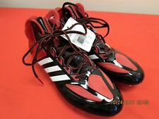 Men's Adidas AS SMU CrazyQuick American Football Black Red Shoes Size 11