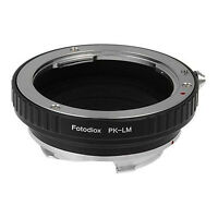 Fotodiox Lens Mount Adapter Pentax K Mount (PK) SLR Lens to Leica M Camera Body
