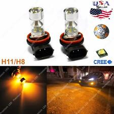 3000K Projector Amber Gold 100W CREE H11 H8 LED For Fog DRL Lights Bulb Lamps