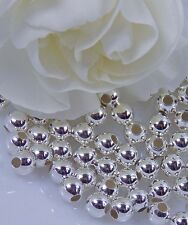 4mm Seamless  .925 Sterling  Silver Brite Beads (Pkg of 25) Free Shipping