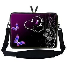 "17.3"" Laptop Computer Sleeve Case Bag w Hidden Handle & Shoulder Strap 1810"