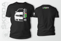 Skoda Fabia VRS Car Auto Black T-Shirt 100% Cotton XS-5XL