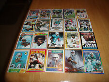 MIAMI DOLPHINS FOOTBALL CARD LOT-GRIESE, TANNEHILL, MARINO, CSONKA, & MORE