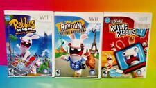 Rayman Raving Rabbids 2, TV Party, Go Home - Nintendo Wii 3 Games Lot Bundle