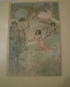 HUGH THOMSON COLOURED PRINT POSSIBLY FROM 'AS YOU LIKE IT'  ( NUMBER 1)