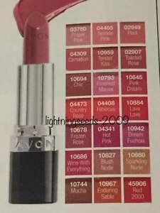 Avon TRUE COLOUR Lipstick RED 2000 PROPER PINK TOASTED ROSE WINE POUT LAVA LOVE