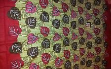 Beautiful beige brown red leaf 100% cotton bed sheet with 2 pillowcases
