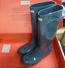 Hunter Women's Original Tall Gloss Wellington Boots - Graphite Sz 5 New!